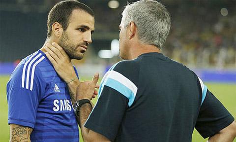 Fabregas có mối quan hệ tốt đẹp với HLV Mourinho