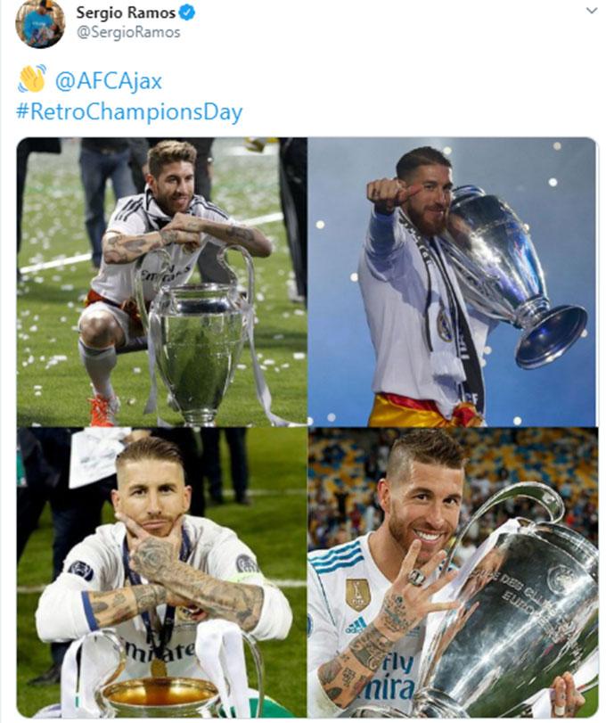 Ramos gửi lời đáp trả đầy ẩn ý đến Ajax