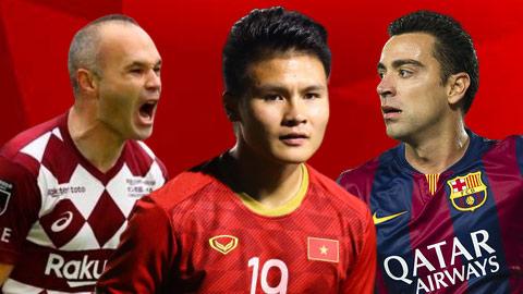 Quang Hải được xếp cùng Iniesta, Xavi trong thử thách châu Á