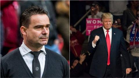 GĐKT Ajax mai mỉa UEFA giống Tổng thống Mỹ, Donald Trump