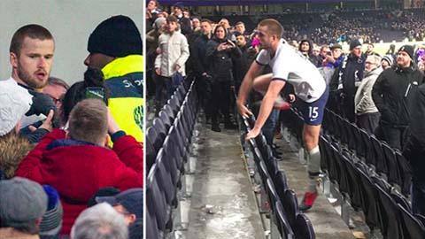 """Đã có phán quyết về vụ tiền vệ Tottenham phi lên khán đài """"tẩn"""" fan như Cantona"""