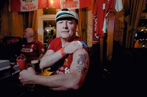 Jorn-Erik Heimseter, xăm hình Liverpool trên cánh tay