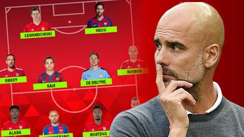 Đội hình hay nhất của Guardiola: Đa số là Bayern & Barca, chỉ có 1 Man City