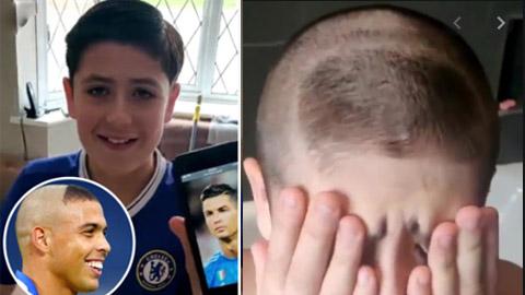 CĐV nhí Chelsea 'đau khổ' vì bị cắt nhầm kiểu tóc của Ro béo