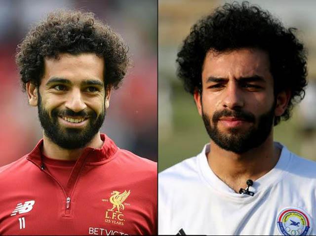 Cầu thủ 23 tuổi người Iraq là Hussein Ali (phải) cũng thường bị nhận nhầm là Salah