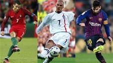 Ronaldo, Messi, Beckham và những siêu phẩm đá phạt phút chót