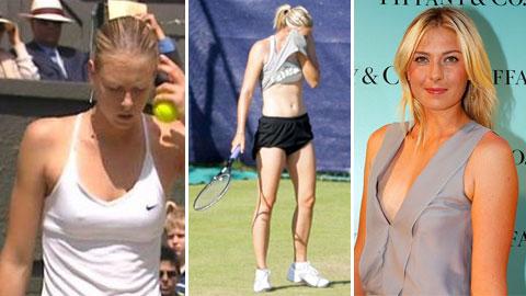 Sharapova & những khoảnh khắc chỉ muốn ''độn thổ''