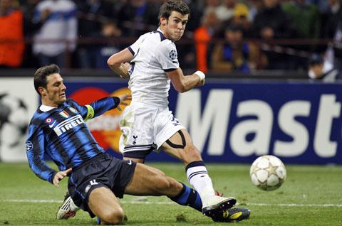 3 bàn thắng đầy tốc độ vào lưới Inter khi còn khoác áo Tottenham khiến Bale được cả thế giới săn đón
