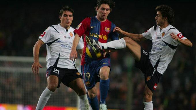 Aimar đối đầu Messi trong màu áo Real Zaragoza