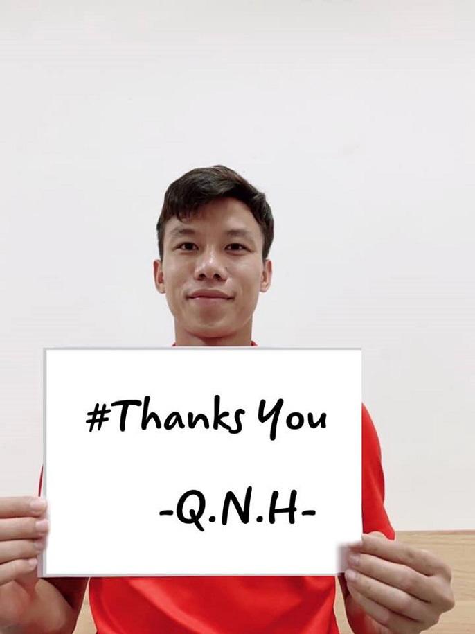 """Trung vệ Quế Ngọc Hải chung tay với chiến dịch """"Xin cảm ơn"""""""