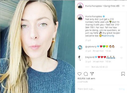 Sharapova công khai số điện thoại để giao lưu với NHM