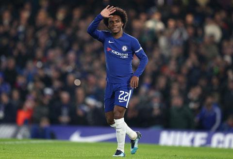 Willian sẽ hết hợp đồng với Chelsea vào cuối mùa này