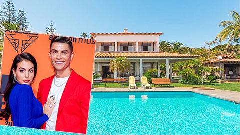 Choáng ngợp với ''thiên đường'' Ronaldo mới thuê để tránh dịch Covid-19