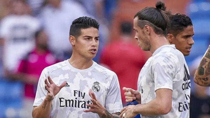 James và Bale không còn chỗ đứng ở Real