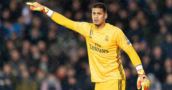 Areola đang là thủ môn số 2 ở Real