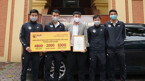 Quang Hải và đồng đội ủng một ngày lương chống dịch