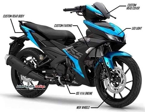 Hình ảnh được cho là Yamaha Exciter 155
