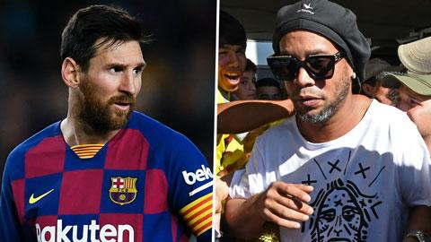 Messi điên tiết vì tin giả về Inter và Ronaldinho