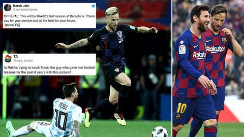 CĐV Barca đòi tống cổ Rakitic vì đăng ảnh hạ thấp Messi