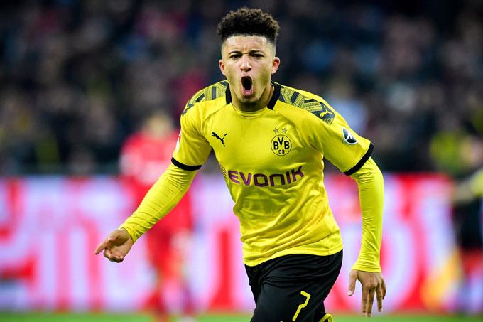 Jadon Sancho (Borussia Dortmund): Giá hiện tại 117 triệu euro, giảm 13 triệu euro (10%)