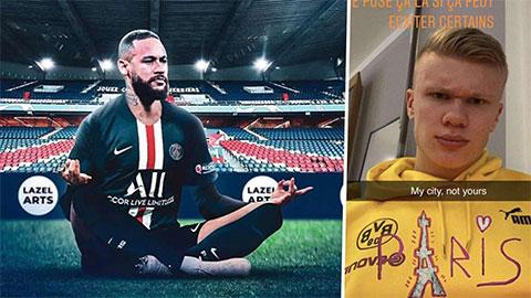 Sự thật đằng sau vụ Neymar trả đũa Haaland ở Champions League được hé lộ