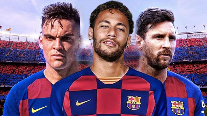Barca đang muốn mang về Neymar và Lautaro Martinez để tạo nên mũi đinh ba mới