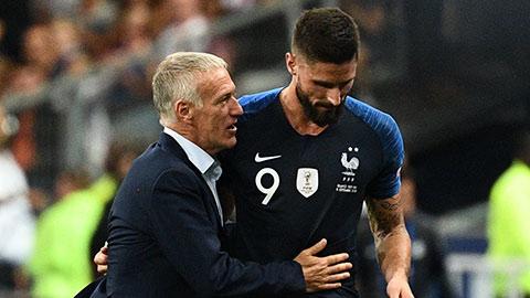 Giroud, trò cưng của Deschamps