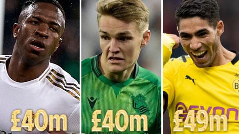 """9 sao trẻ trị giá 265 triệu bảng có thể là """"Galaticos 3.0"""" của Real Madrid"""
