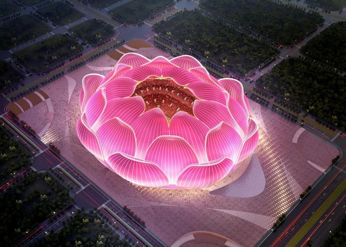 Nó có thể thay đổi màu sắc, khiến sân vận động đẹp như trong tranh