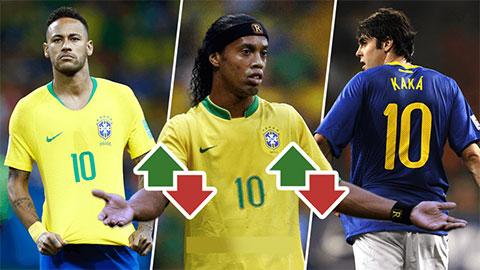 """Đâu là """"số 10"""" hay nhất mọi thời của tuyển Brazil?"""