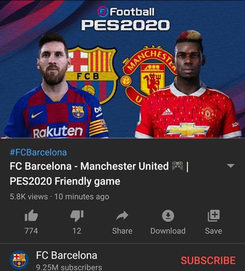 Hình ảnh Barca rò rỉ áo đấu mới của M.U