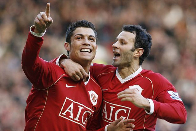 Giggs từng có 6 năm sát cánh cùng Ronaldo ở M.U