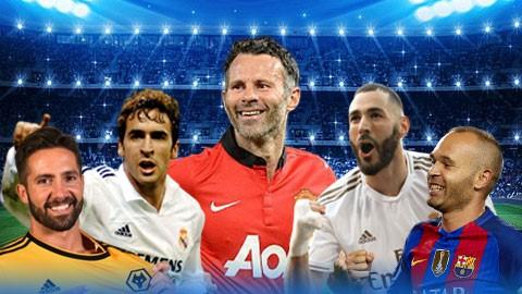 Iniesta, Benzema và những sao bóng đá chưa từng nhận thẻ đỏ