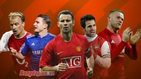 5 chuyên gia kiến tạo vĩ đại nhất lịch sử Ngoại hạng Anh