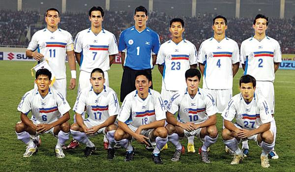 Neil Etheridge trong màu áo của Philippines ở AFF Cup 2010