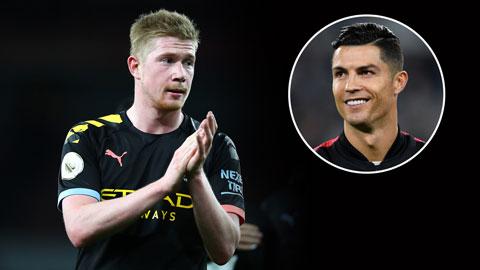 De Bruyne thổ lộ mong muốn được làm đồng đội của Ronaldo