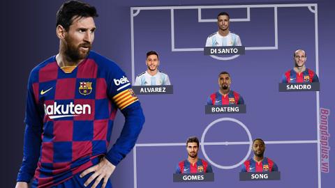Đội hình tệ nhất từng may mắn làm đồng đội của Lionel Messi