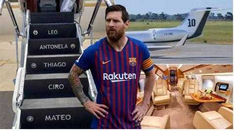 Chuyên cơ 14 triệu euro của Messi có gì 'khủng'?