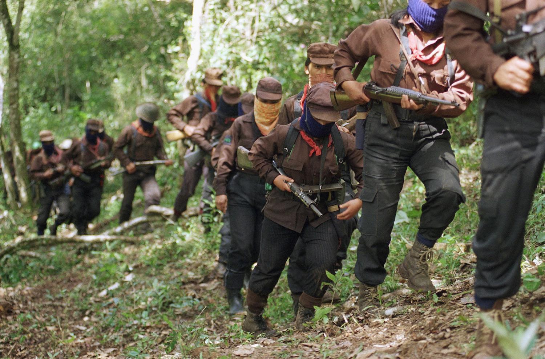 Những chiến sĩ thuộc phong trào kháng chiến Zapatista