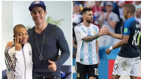 Mbappe sẵn sàng ngồi dự bị nếu đội hình có Ronaldo và Messi