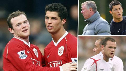 Rooney và Ronaldo thoát cảnh không đội trời chung nhờ Sir Alex