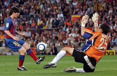 15 năm qua, Messi đã ghi tổng cộng 627 bàn thắng cho Barca