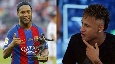 """Neymar """"thu hút"""" Messi vì cùng đẳng cấp với Ronaldinho"""