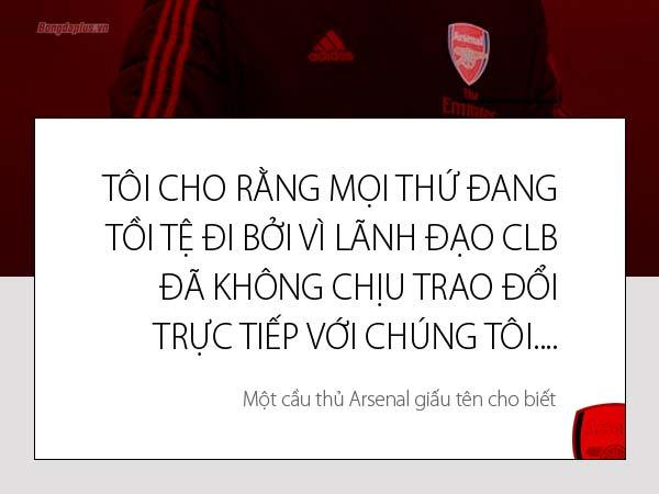 Phòng thay đồ Arsenal nát như tương vì TIỀN LƯƠNG