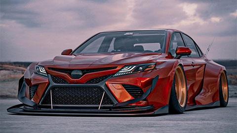 Toyota Camry lột xác với body kit tuyệt đẹp khiến Honda Accord, Mazda 6 'cạn lời'