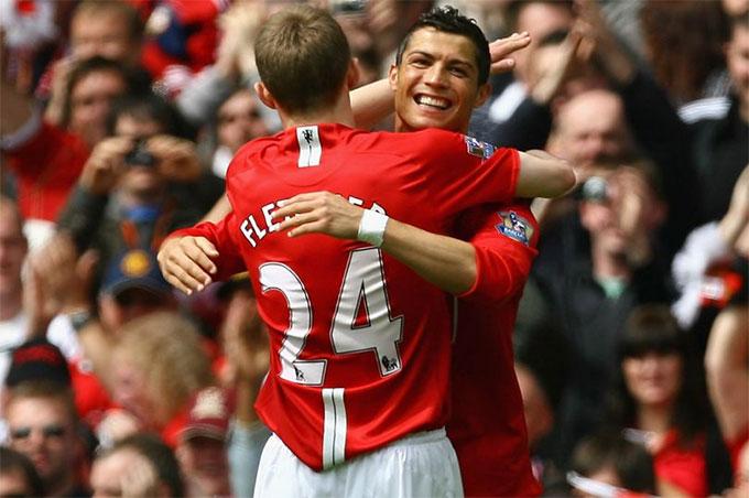 Fletcher từng là đồng đội của Ronaldo ở M.U