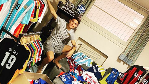 Dybala sở hữu bộ sưu tập áo đấu đồ sộ
