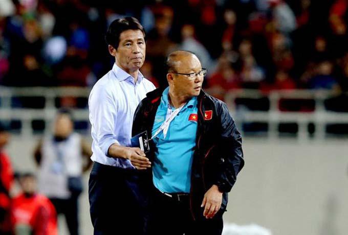 Ông Park và Nishino đang tạo ra thế đôi cực thú vị ở Đông Nam Á