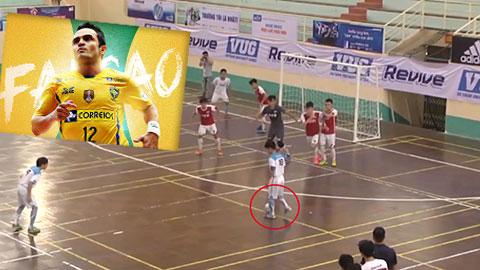 Siêu phẩm futsal sinh viên Việt Nam sánh ngang với kiệt tác của Falcao