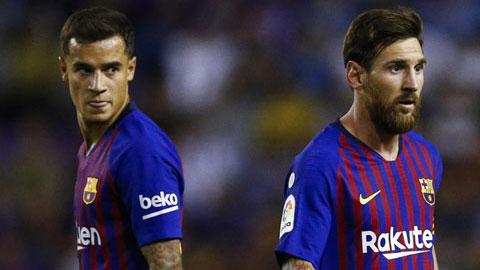 Messi bị cho là nguyên nhân khiến Coutinho lụn bại tại Barca